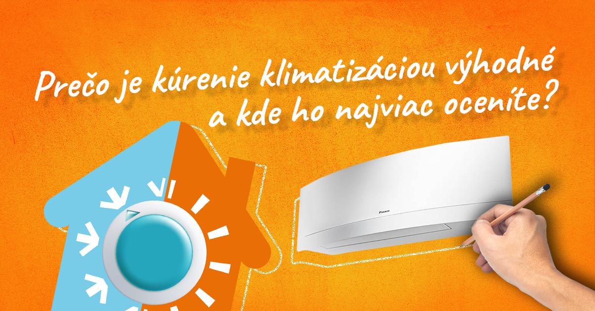 Klimatizacia Daikin na oranzovom podklade
